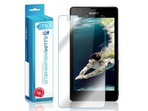 Sony Xperia ZR Screen Protector (2-Pack), ILLUMI AquaShield Full Coverage Screen Protector for Sony Xperia ZR HD Clear Anti-Bubble Film - Lifetime Warranty