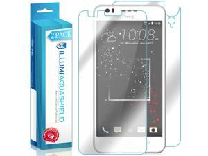 HTC Desire 825 Screen Protector + Back Cover (2-Pack), ILLUMI AquaShield Full Coverage Back and Front Screen Protector for HTC Desire 825 HD Clear Anti-Bubble Film - Lifetime Warranty