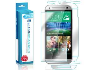 HTC One Mini 2 Screen Protector + Back Cover (2-Pack), ILLUMI AquaShield Full Coverage Back and Front Screen Protector for HTC One Mini 2 HD Clear Anti-Bubble Film - Lifetime Warranty