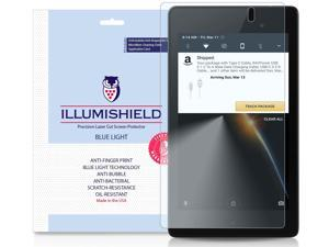 Google Nexus 7 Screen Protector (2016)[1-Pack], iLLumiShield Blue Light Screen Protector for Google Nexus 7 HD Shield with Anti-Bubble & Anti-Fingerprint UV-Filter Film