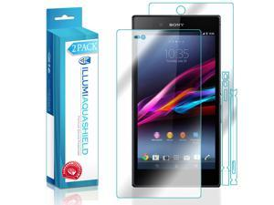 Sony Xperia Z Ultra Screen Protector + Back Cover (2-Pack), ILLUMI AquaShield Full Coverage Back and Front Screen Protector for Sony Xperia Z Ultra HD Clear Anti-Bubble Film - Lifetime Warranty