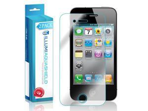 iPhone 4 Screen Protector (2-Pack), ILLUMI AquaShield Full Coverage Screen Protector for iPhone 4 HD Clear Anti-Bubble Film - Lifetime Warranty
