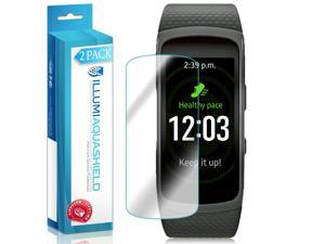 Samsung Gear Fit2 Screen Protector (Gear Fit 2)(2-Pack), ILLUMI AquaShield Full Coverage Screen Protector for Samsung Gear Fit2 HD Clear Anti-Bubble Film - Lifetime Warranty