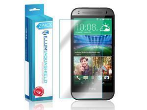 HTC One Mini 2 Screen Protector (2-Pack), ILLUMI AquaShield Full Coverage Screen Protector for HTC One Mini 2 HD Clear Anti-Bubble Film - Lifetime Warranty