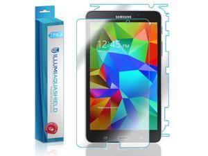 Samsung Galaxy Tab 4 7.0 Screen Protector + Back Cover (2-Pack), ILLUMI AquaShield Full Coverage Back + Front Screen Protector for Samsung Galaxy Tab 4 7.0 HD Clear Anti-Bubble Film Lifetime Warranty