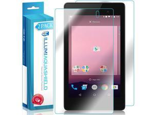 Nexus 7 Screen Protector + Back Cover (2016)(2-Pack), ILLUMI AquaShield Full Coverage Back and Front Screen Protector for Nexus 7 HD Clear Anti-Bubble Film - Lifetime Warranty