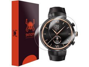 Asus ZenWatch 3 Screen Protector + Full Body , Skinomi? TechSkin Full Coverage Skin + Screen Protector for Asus ZenWatch 3 Front & Back Clear HD Film