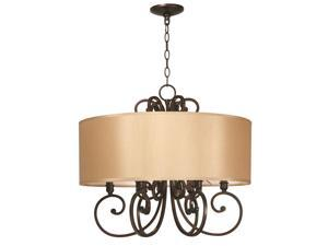 World Imports 3526-29 Rue Maison Clct 6-Lgt Chandelier, Euro Bronze