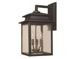 World Imports 9106-42 Sutton Clct 3-Lgt Outdoor Wall Sconce, Rust