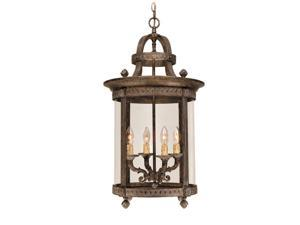 World Imports 1604-63 Chatham Clct 4-Lgt Hanging Interior Lantern, French Bronze