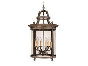 World Imports 1606-63 Chatham Clct 6-Lgt French Country Hanging Lantern, French Bronze