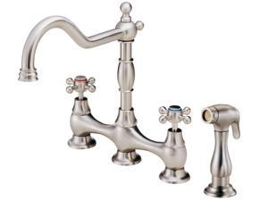 Danze I D404557SS Opulence 2-Handle Kitchen Faucet with Veggie Spray in Stainless Steel