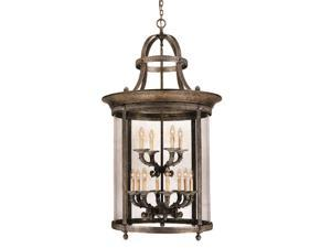 World Imports 1612-63 Chatham Clct 12-Lgt French Country Influence Foyer Lantern, French Bronze