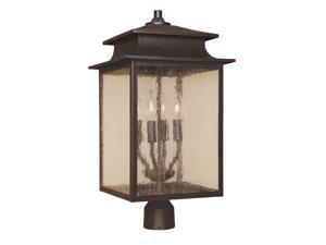 World Imports 9109-42 Sutton Clct 4-Lgt Post Lantern, Rust