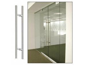 "CRL Polished Stainless 36"" Extra Length Ladder Style Back-to-Back Pull Handle - 36LPPS"