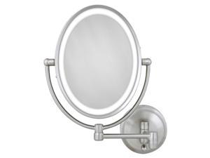 Zadro LOVLW410 10X/1X Satin Nickel Oval LED Lighted Wall Mirror