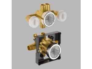 Delta-R18000-XOWS Jetted Shower(TM) Rough-In Valve with extra Outlet (6-Setting),