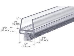 CRL Clear Polycarbonate Wipe With Pile Weatherstrip - CW12