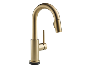 Delta-9959T-CZ-DST Trinsic, Single Handle Pull-Down Bar/Prep Faucet Featuring Touch2O(R) Technology, Champagne Bronze