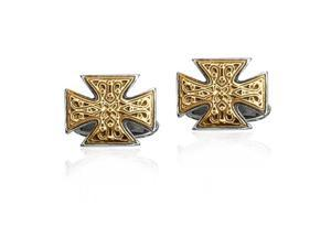 Phillip Gavriel Collection - 18K Gold & Sterling Silver Maltese Cross Cufflinks