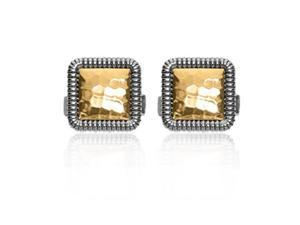 Phillip Gavriel Collection - 18K Gold & Sterling Silver Square Hammered Cufflinks