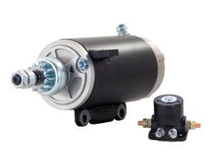 STARTER MOTOR FITS & SOLENOID 81-94 JOHNSON MARINE OUTBOARD 80 90 HP 586282 SM02465