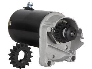 STARTER MOTOR FITS BRIGGS & STRATTON 14 16 18 HP STARTER 497596 V TWIN WITH FREE GEAR