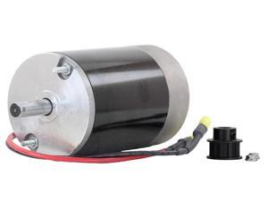 "12V DC SPINNER MOTOR FITS FISHER POLY CASTER 1/2"" SHAFT 10T COGGED PULLEY 78300 78300 50092K P3035"