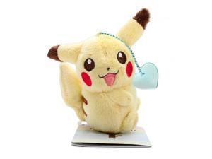 "Pokemon I love Pikachu Ball Chain Plush - 47433 - 4.5"" Pikachu Blue Heart"