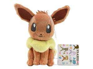 "Pokemon I LOVE Eevee Soft Plush Doll - 48301 ~ 6"" Eevee"