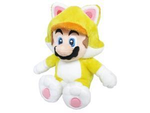"""Super Mario 3D World Plush Series Plush Doll ~ 9"""" Cat Mario"""