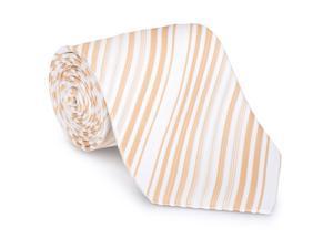 Paolo Davide Men's Woven Beige Striped Tie