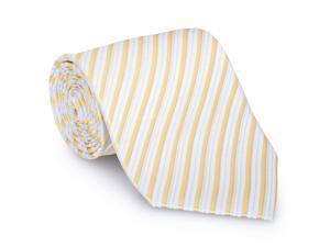 Paolo Davide Men's Woven Gold & Grey Striped Tie