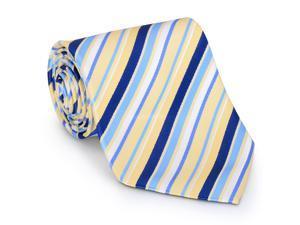 Paolo Davide Men's Woven Blue & Yellow Tie