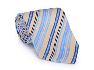 Paolo Davide Men's Woven Blue & Beige Striped Tie