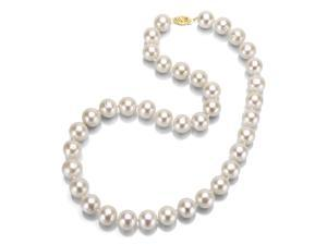 14k Gold White Freshwater Pearl 18 inch Necklace (7.5-8 mm)