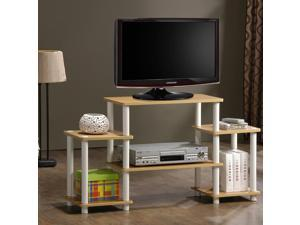 Furinno 11257BK/GYTurn n Tube No-Tool Entertainment Center TV Stand (Black/Grey)