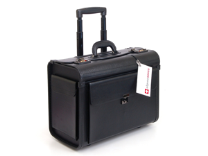 "Alpine Swiss AS5518 Rolling Briefcase 19""- Black"