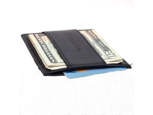 Alpine Swiss SW045 Cash Clip Slim Leather Card Case