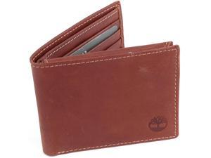 Timberland Mens Wallet Bifold 2 IDs Brushed Matte Finish Genuine Leather Tin Box