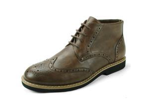 AlpineSwiss Geneva Mens Ankle Boots Brogue Medallion Wing Tip LaceUp Dress Shoes