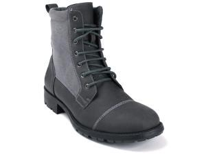 AlpineSwiss Patton Mens Combat Boots Lug Sole Rugged Canvas Military Field Shoes
