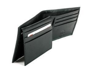 Alpine Swiss SW524-BLK Men's Flip Up ID Window 9 Cards 2 Receipt Pockets Billfold Wallet