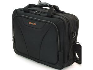 Alpine Swiss AS-8695 Laptop Briefcase Computer Bag - Black