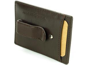 Hammer Anvil Money Clip Thin Front Pocket Compact Genuine Leather Men's Wallet
