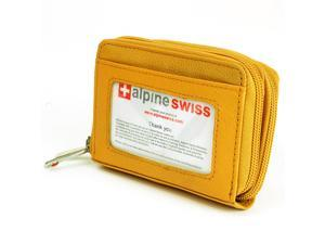 AlpineSwiss Womens Mini Wallet Leather Organizer Credit Card Case Coin ID Holder