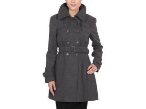 Alpine Swiss Keira Women's Trench Coat Double Breasted Wool Jacket Belted Blazer