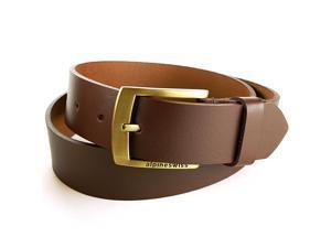 Alpine Swiss Men's Casual Jean Belt 35MM Genuine Dakota Leather Signature Buckle