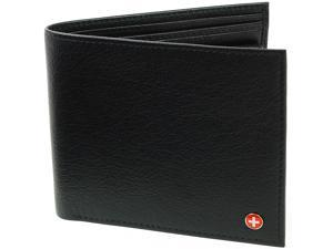 Alpine Swiss Mens European Wallet Oversized Genuine Leather Divided Bill Section