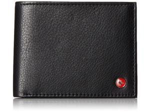 Alpine Swiss SW524-BLK Men's Flip Up ID Window 9 Cards 2 Receipt Pockets Billfold Wallet